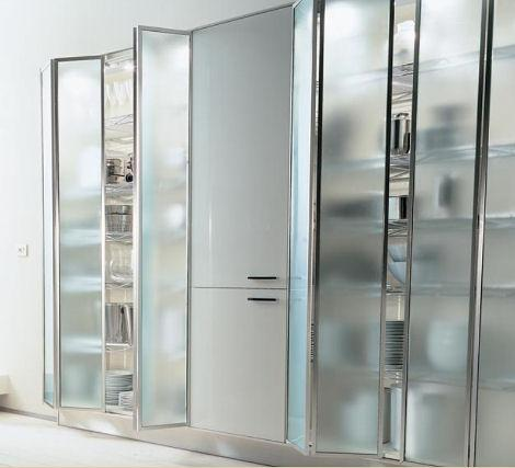 glass kitchen cabinets contemporary design