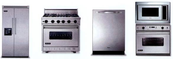 modern kitchen appliances-stainless steel-refrigerator-oven