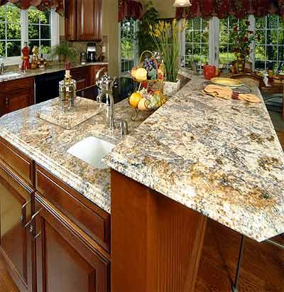 granite country kitchen design