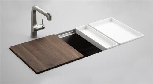 modern and luxury kitchen sink-wood