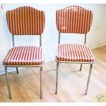 retro kitchen chairs-red