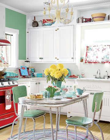 sauber und ordentlich-Küche-Feng Shui-frische Blumen