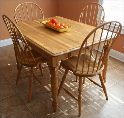 wooden kitchen table-design