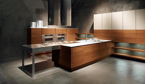 minimalist kitchen design-black walls