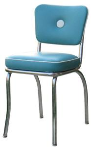 retro kitchen chairs-blue-design idea