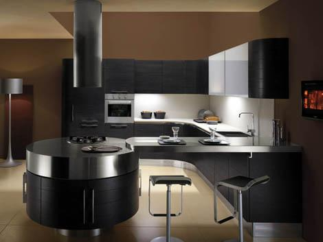 contemporary blck kitchen cabinets
