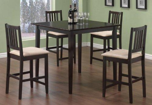 black kitchen table-hardwood