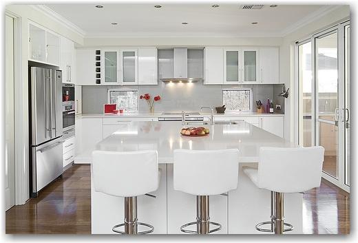 Beautiful White Kitchens exellent modern white kitchen island n and decor pertaining to