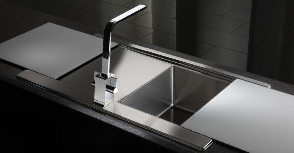 Table, Bed, Kitchen, Furniture: Glass kitchen sinks