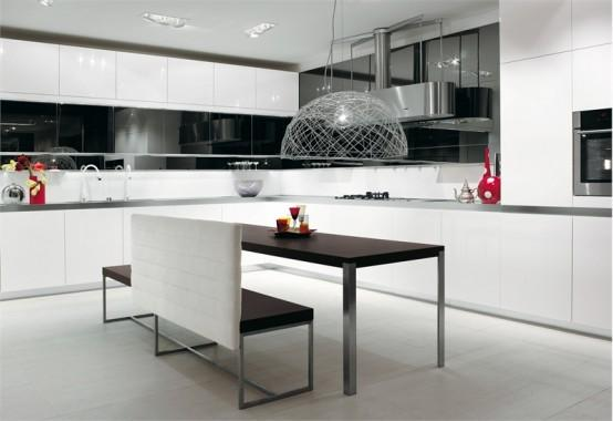 luxury-modern white kitchen-white cabinets-design