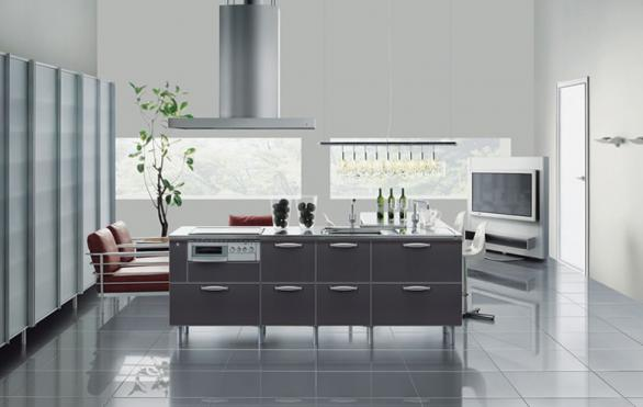 elegant kitchen cabinets-clean lines