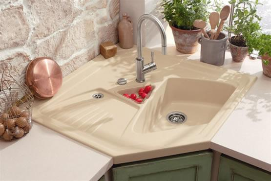 modern corner kitchen sink