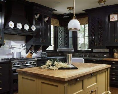 classic black kitchen-cabinets