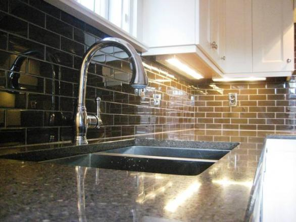 glass  tiles for kitchen-design