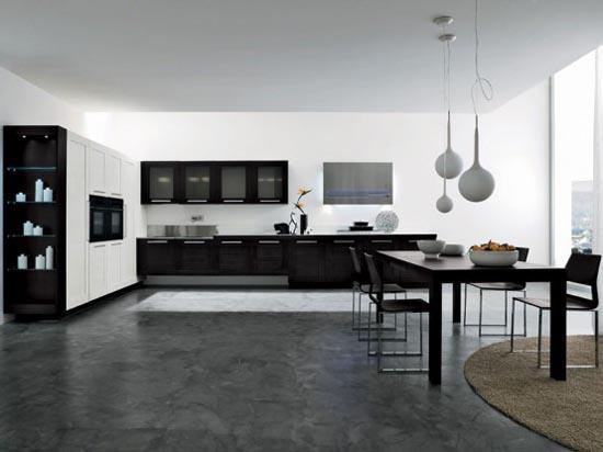 modern black kitchen cabinets-design and decoration