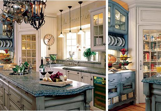 cobalt blue  french country kitchen-decoration