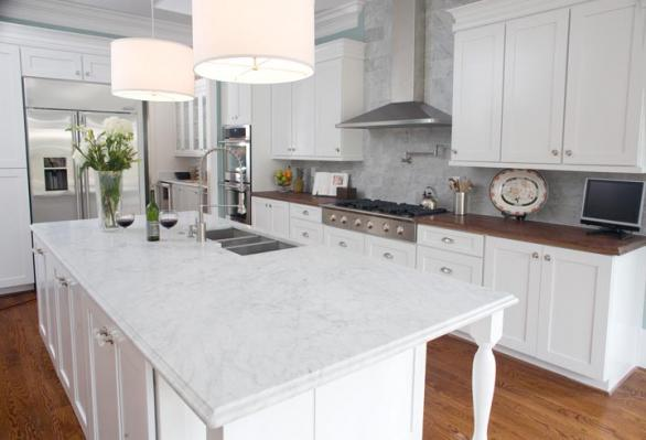 modern white kitchen countertop-design-decoration