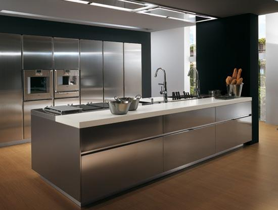 Luxus Küche: moderne Design der Kücheninsel