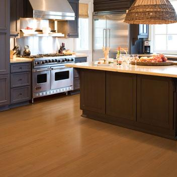 modern kitchen-wooden floor