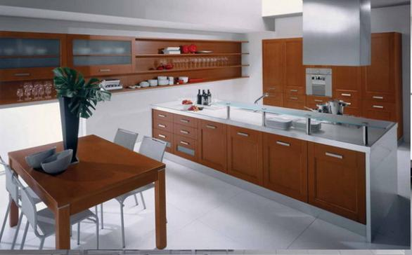 modern italian kitchen design-wood