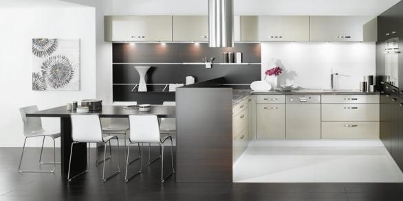 modern luxury white kitchen -decoration