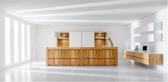 luxury modern kitchen-wooden kitchen island
