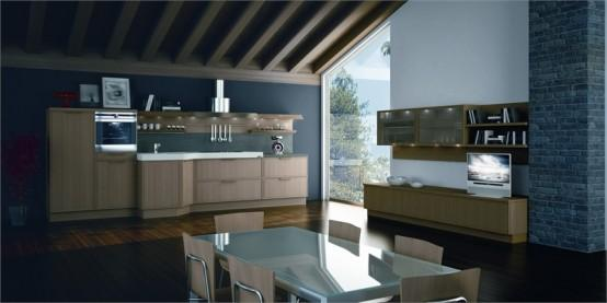 kitchen design-decoration-wooden floor