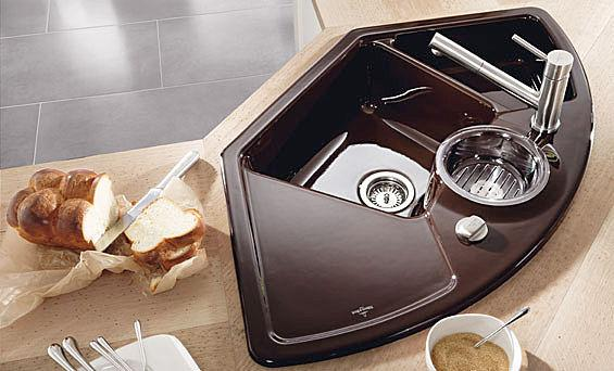 contemporary and luxury corner kitchen sink