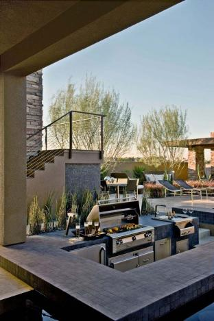 luxury modern outdoor kitchen design
