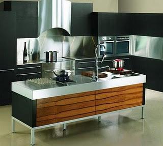 Luxus und moderne Insel für die große Küche