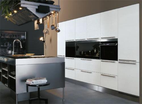 ... Luxus Und Moderne Insel Für Die Große Küche