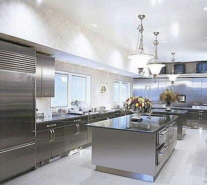 contemporary kitchen stainless steel design