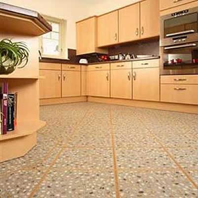 Modern kitchen interior designs kitchen flooring ideas for Vinyl floor ideas for kitchen