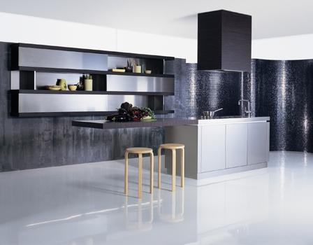 modern black kitchen design-contemporary cabinets