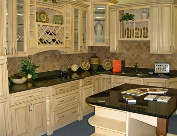 Modern kitchen interior designs antique white kitchen for Antique glazed kitchen cabinets