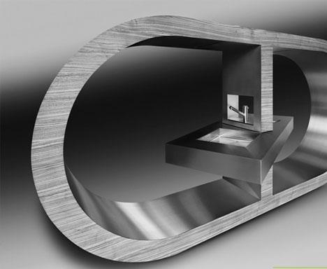 modern-luxury kitchen-steel-design
