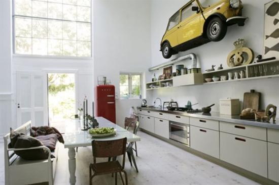 Küchengeräte in Wand-Dekoration