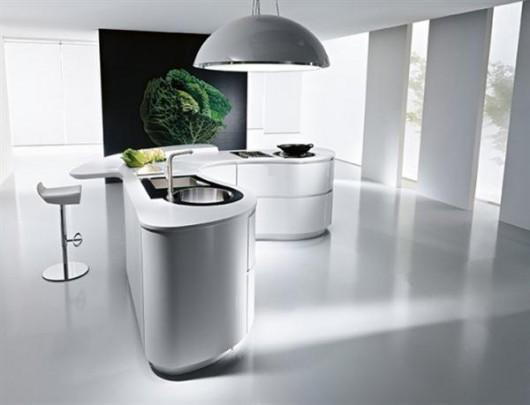 modern curve italian kitchen design in white-big picture