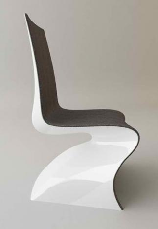 contemporary and modern dining chair in black and white