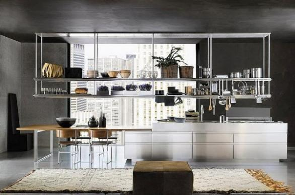 luxury-modern-metal kitchen kabinet