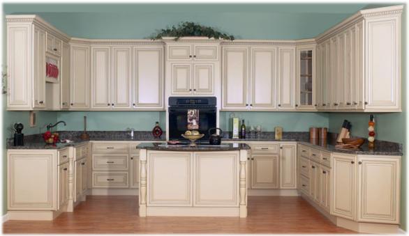 klassische weiße Küche-Schränke