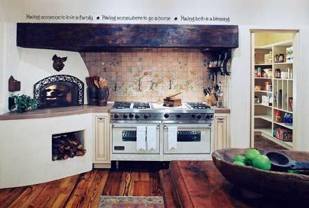 ethnische Küche Design