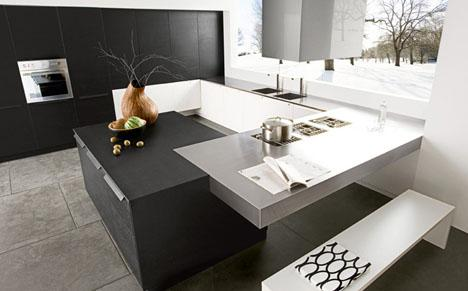 stunning contemporary kitchen-marble countertops