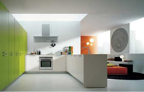 modern und luxuriös eingerichtete Küche und Dekoration