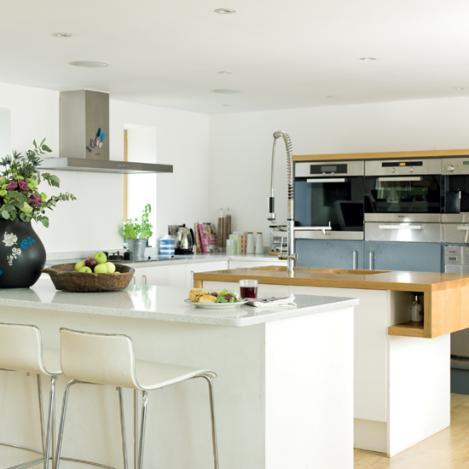modern kitchen interior design-white
