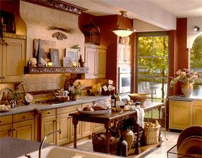 warm country kitchen-light brown-yellow-pastel shades