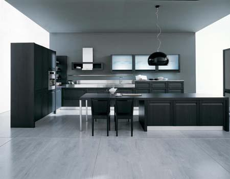 dark modern kitchen design and ideas