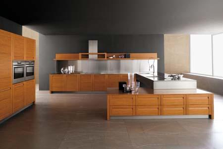 modern kitchen interior design-wood-oven