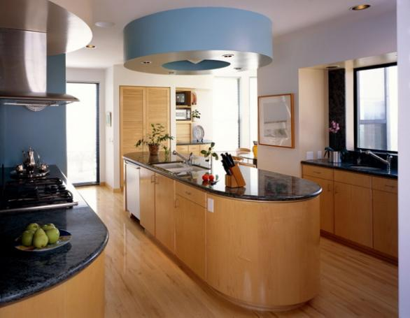 modern and luxury kitche-rounde island-design