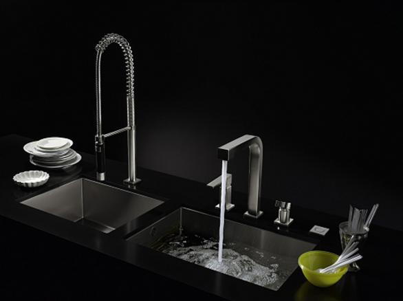 modern stainless kitchen sink-black design